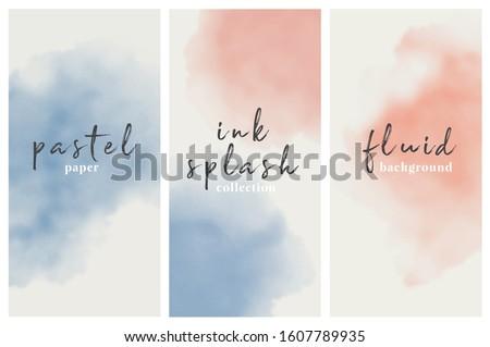 watercolor vertical banner set. vector eps 8