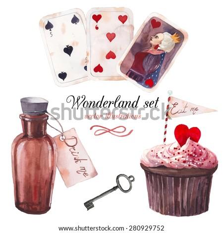 watercolor wonderland set hand