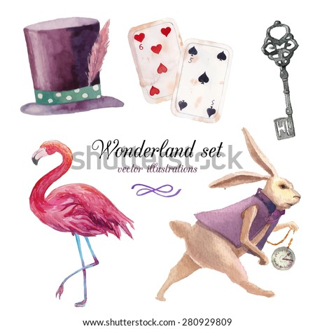 watercolor wonderland set hand