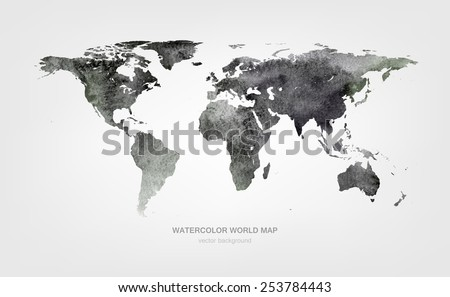 Free watercolor world map vector download free vector art stock watercolor world map gumiabroncs Images