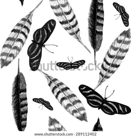 watercolor zebra butterfly