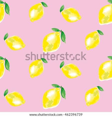 watercolour lemon element