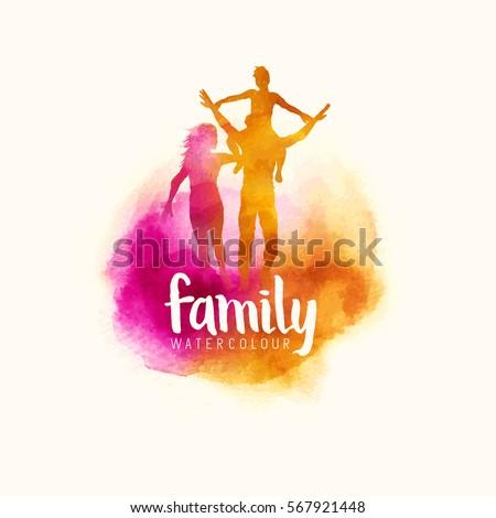 watercolour style family