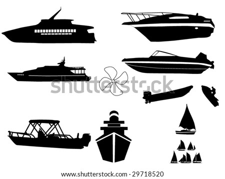 watercraft silhouettes compilation 1