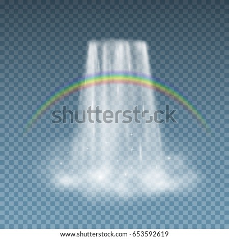 waterfall cascade isolated on