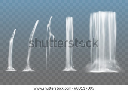 Waterfall elements - Shutterstock ID 680117095
