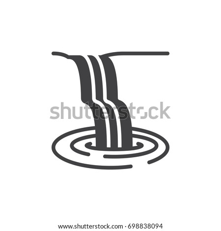 waterfall icon vector  filled