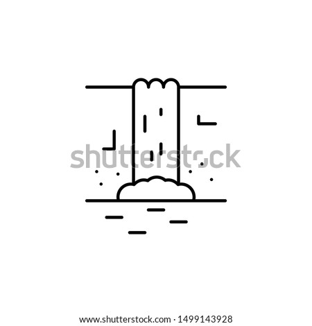 waterfall line icon element of