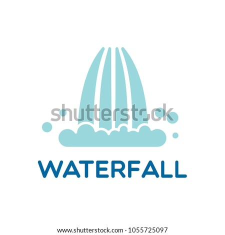 waterfall logo icon vector