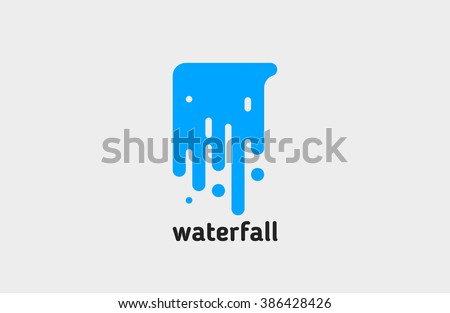 waterfall logo water logo