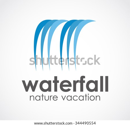 waterfall of natural vacation