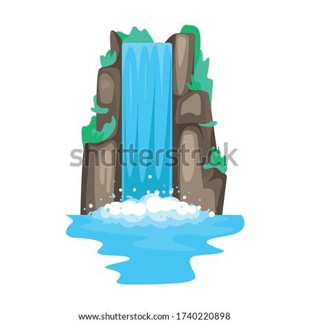 waterfall vector iconcartoon
