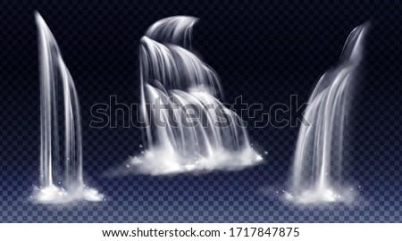 waterfalls isolated on