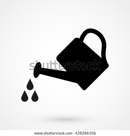 watering can icon isolated on