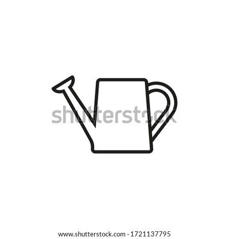 Watering can icon. Vector. Line style. Foto stock ©