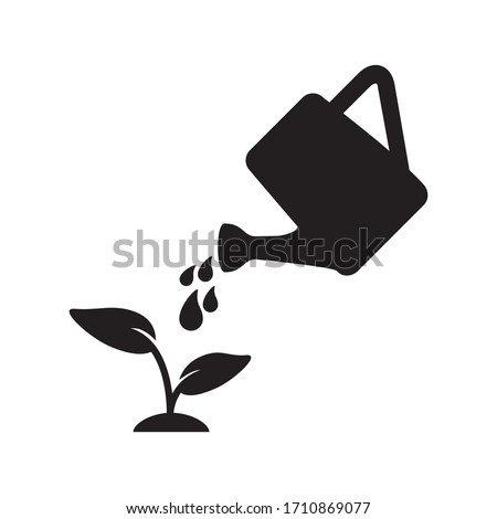 watering can icon vector symbol template Foto stock ©