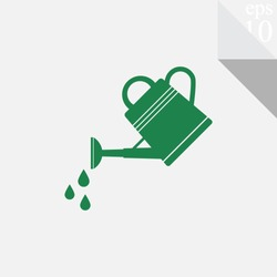 Watering can vector icon.