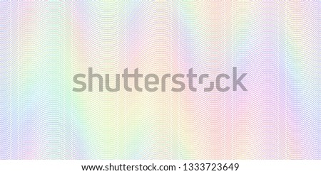 Watermark banknote pattern. Banknotes check guilloche lines texture, secure waves patterns and passport paper. Currency banknote guilloche, security certificate watermark vector background