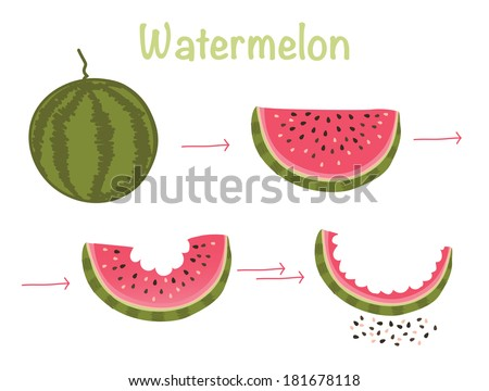 watermelon appetizing natural