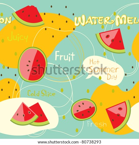 watermelon background seamless pattern