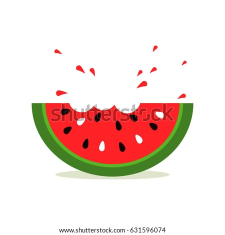 Watermelon icon in a flat style. Logo watermelon isolated on white background. flat vector illustration isolate on a white background