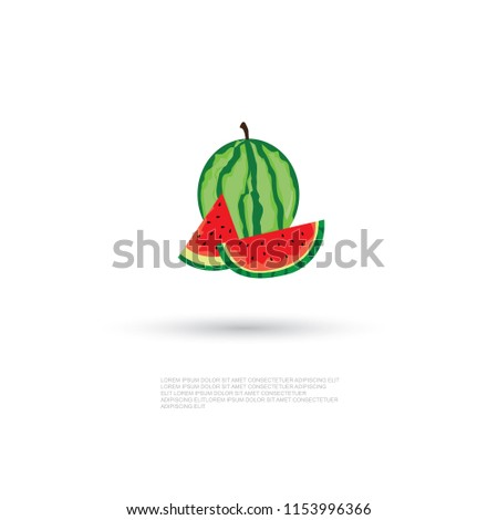 Watermelon icon.modern design.vector illustration #1153996366
