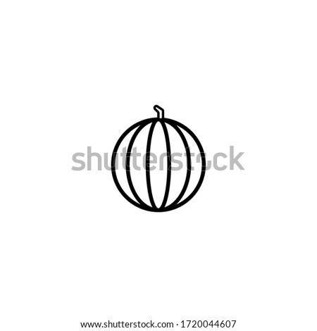 Watermelon icon. Thin lines sign. Zdjęcia stock ©