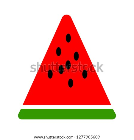 watermelon icon - watermelon slice isolated, sweet watermelon fruit illustration - Vector fruit