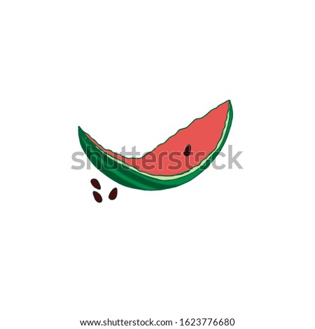watermelon peel with seeds on a