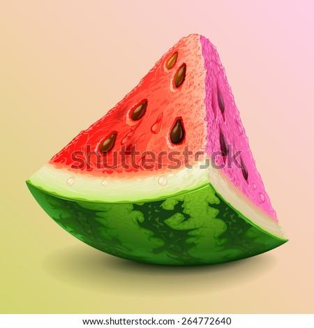 watermelon piece