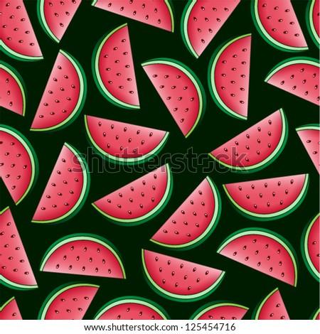 Watermelon Seamless Pattern - Shutterstock ID 125454716