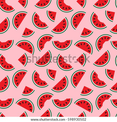 watermelons  whole and bitten