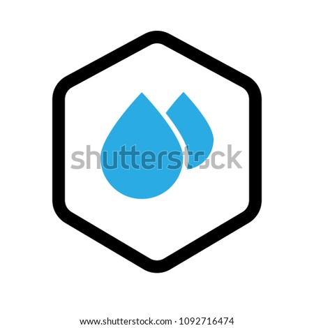 waterproof vector icon.drop and coat of arms symbol. Can be used as icon for security, protected graphic object. transparent object #1092716474