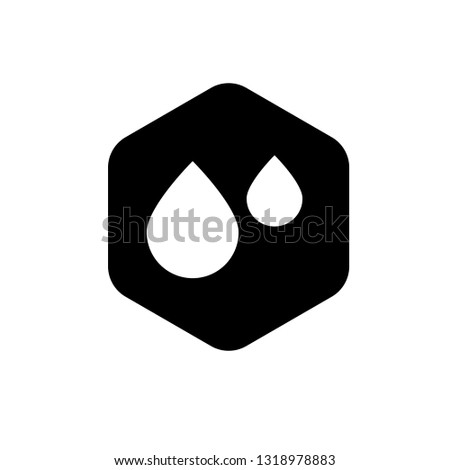 waterproof vector icon.drop and coat of arms symbol. Can be used as icon for security, protected graphic object. transparent object #1318978883