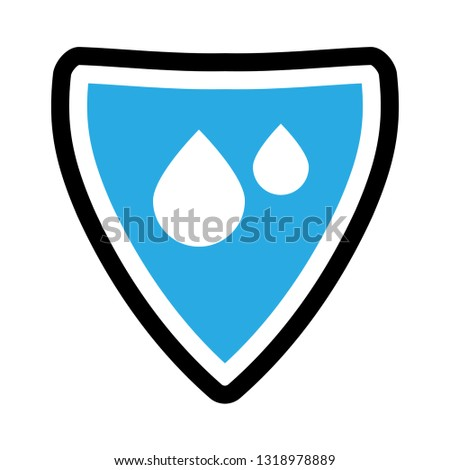 waterproof vector icon.drop and coat of arms symbol. Can be used as icon for security, protected graphic object. transparent object #1318978889