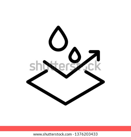 waterproof vector icon