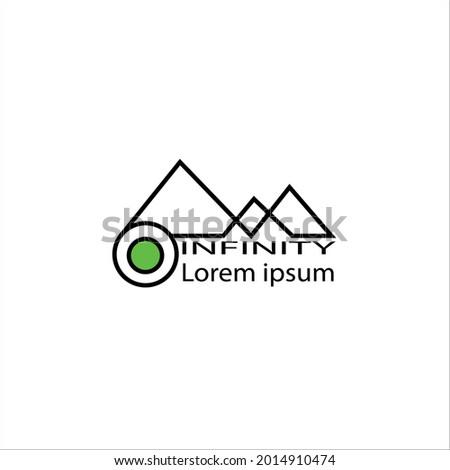 Watt logo line art design illustration infinity Foto stock ©