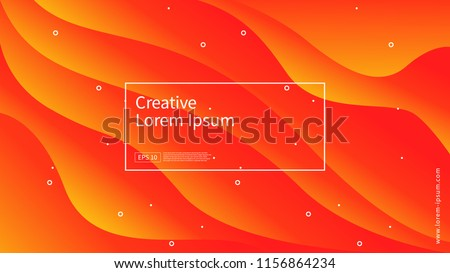 Wave and geometric color background design. Dynamic shapes composition with gradient color. Modern and futuristic design for cover and poster. Eps10 vector.