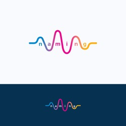 Wave audio sound dance equalizer logo