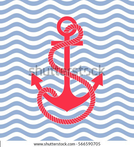 wave background pattern anchor