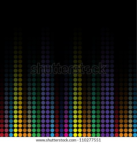 Wave colorful mosaic background