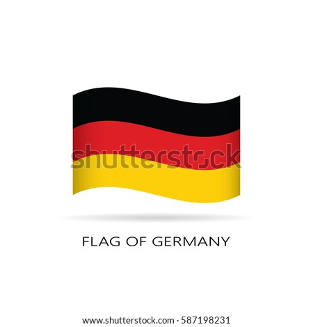 wave flag of germany on white