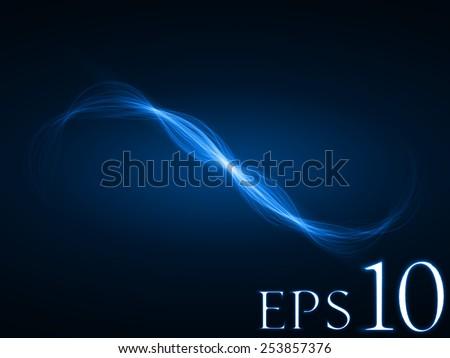wave formed energy waves (blue colored, wide waves version)