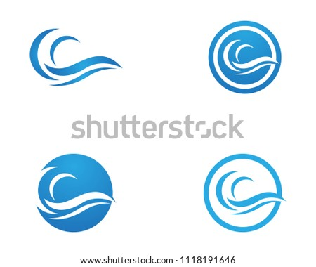 Wave icon logo vector template