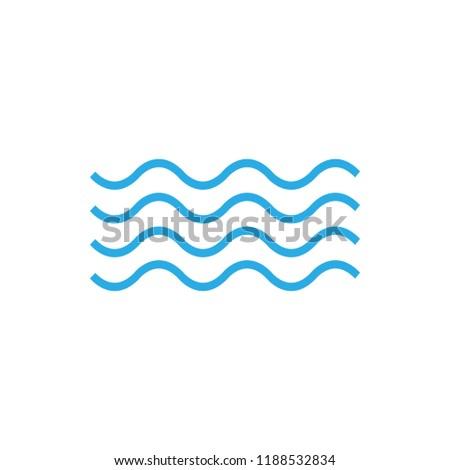Wave Icon. Vector illustration, flat design.