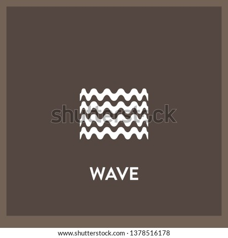 wave icon vector. wave sign on white background. wave icon for web and app