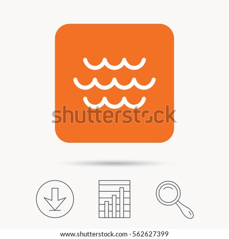 wave icon water stream symbol