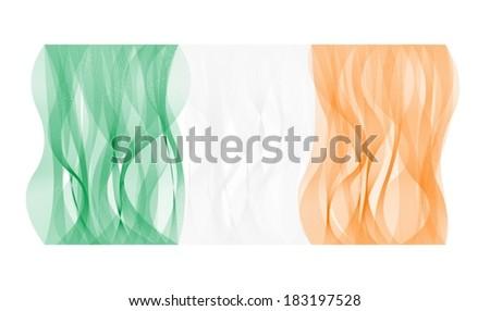 wave line flag of ireland