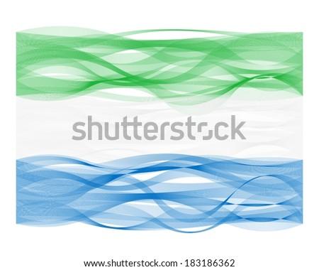 wave line flag of sierra leone