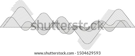 Wave lines pattern abstract background. Geometric design. Abstract fluid creative templates with dynamic linear waves.